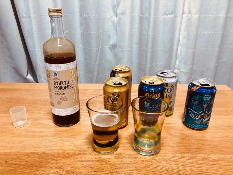 もろみ酢とエビスと缶ビールたち